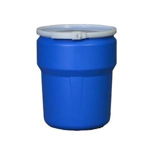 Eagle® 14 Gallon, Plastic Lever-Lock, Lab Pack Open Head Plastic Barrel Drum, Blue