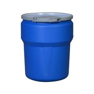 Eagle® 10 Gallon, Metal Lever-Lock, Lab Pack Open Head Plastic Barrel Drum, Blue