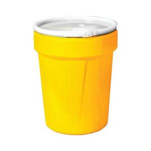 Eagle® 40 Gallon, Plastic Lever-Lock, Lab Pack Plastic Barrel Drum, Yellow