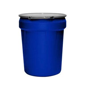 Eagle® 40 Gallon, Metal Lever-Lock, Lab Pack Plastic Barrel Drum, Blue