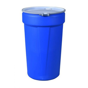 Eagle® 55 Gallon, Metal Bolt Ring, Lab Pack Open Head Plastic Barrel Drum, Blue
