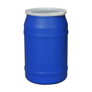 Eagle® 55 Gallon, Plastic Lever-Lock, Lab Pack Open Head Plastic Barrel Drum, Blue
