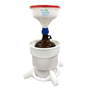 "8"" ECO Funnel® System, Auto-Shut, 4 liter, 38-430 Cap with Amber Glass Jug, Secondary Container"