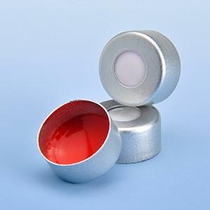 "Aluminum Seal Natural, Red, PTFE/White Silicone 11mm, 0.040"", Aluminum, case/1000"