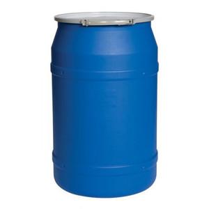 Eagle® 55 Gallon, Metal Lever-Lock, Lab Pack Plastic Barrel Drum, Blue