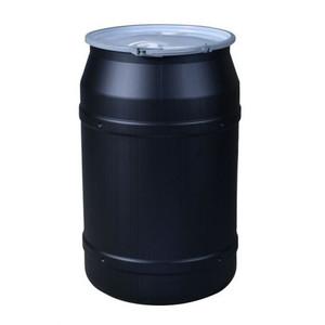 "Eagle® 55 Gallon, Metal Lever-Lock, Lab Pack Plastic Barrel Drum With 2 x 2"" Bung Holes, Black"