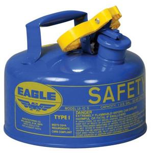 Eagle® 1 Gallon Steel Safety Can For Kerosene, Type I, Flame Arrester, Blue