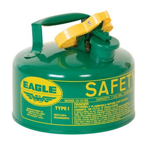 Eagle® 1 Gallon Safety Can For Combustibles, Type I, Flame Arrester, Green