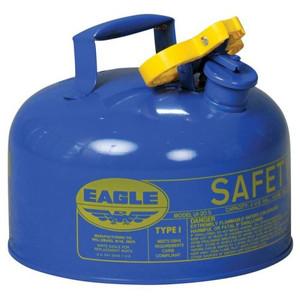Eagle® 2 Gallon Steel Safety Can For Kerosene, Type I, Flame Arrester, Blue