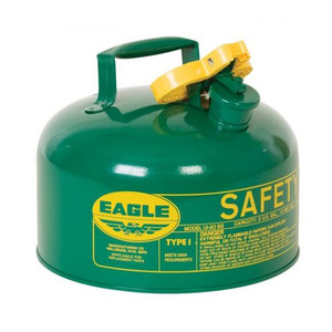 Eagle® 2 Gallon Safety Can For Combustibles, Type I, Flame Arrester, Green