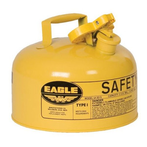 Eagle® 2 Gallon Steel Safety Can For Diesel, Type I, Flame Arrester, Yellow