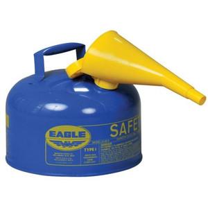 Eagle® 2.5 Gallon Steel Safety Can For Kerosene, Type I, Flame Arrester, Funnel, Blue