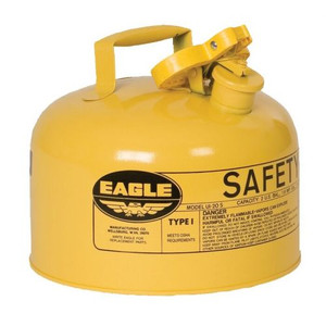 Eagle® 2.5 Gallon Steel Safety Can For Diesel, Type I, Flame Arrester, Yellow