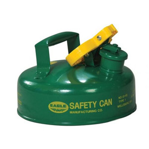 Eagle® 2 Quart Safety Can For Combustibles, Type I, Flame Arrester, Green