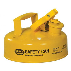 Eagle® 2 Quart Steel Safety Can For Diesel, Type I, Flame Arrester, Funnel, Yellow