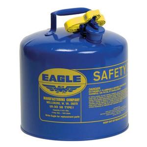 Eagle® 5 Gallon Steel Safety Can For Kerosene, Type I, Flame Arrester, Blue