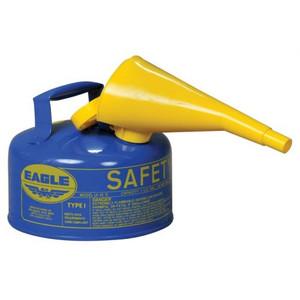 Eagle® 1 Gallon Steel Safety Can For Kerosene, Type I, Flame Arrester, Funnel, Blue