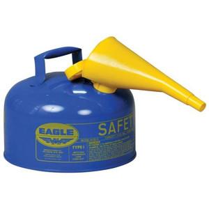 Eagle® 2 Gallon Steel Safety Can For Kerosene, Type I, Flame Arrester, Funnel, Blue