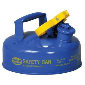 Eagle® 2 Quart Steel Safety Can For Kerosene, Type I, Flame Arrester, Funnel, Blue