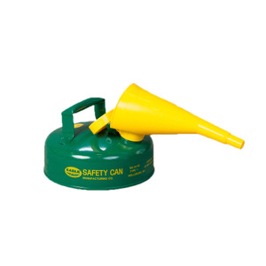 Eagle® 2 Quart Safety Can For Combustibles, Type I, Flame Arrester, Funnel, Green