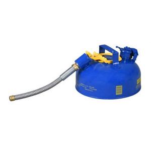 "Eagle® 1 Gallon, 7/8"" Metal Hose, Steel Safety Can For Kerosene, Type II, Blue"