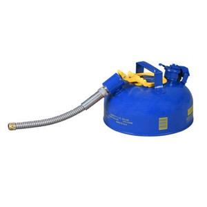 "Eagle® 1 Gallon, 5/8"" Metal Hose, Steel Safety Can For Kerosene, Type II, Blue"