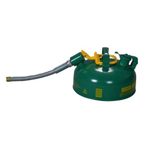 """Eagle® 1 Gallon, 5/8"""" Metal Hose, Steel Safety Can For Combustibles, Type II, Green"""