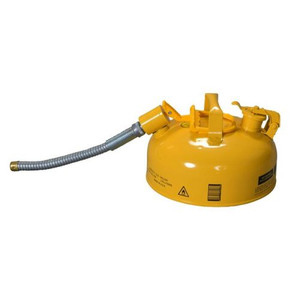 """Eagle® 1 Gallon, 5/8"""" Metal Hose, Steel Safety Can For Diesel, Type II, Yellow"""