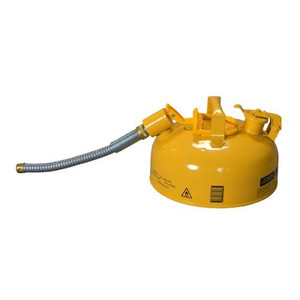 """Eagle® 1 Gallon, 7/8"""" Metal Hose, Steel Safety Can For Diesel, Type II, Yellow"""