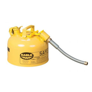 """Eagle® 2.5 Gallon, 5/8"""" Metal Hose, Steel Safety Can For Diesel, Type II, Yellow"""