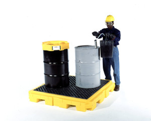 Yellow Spill Pallet P4 Plus with Drain