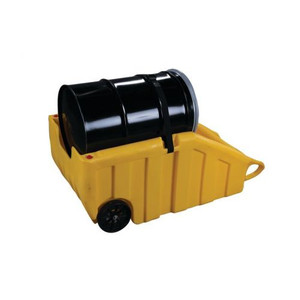 Eagle® Spill Containment Drum Dolly, Fits 55-Gallon Drums, Yellow