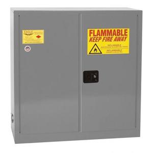 Eagle® 40 Gallon, 3 Shelves, 2 Doors, Manual Close, Paint Safety Cabinet, Gray