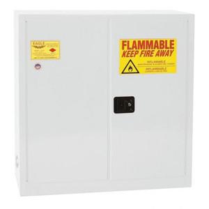 Eagle® 40 Gallon, 3 Shelves, 2 Doors, Manual Close, Paint Safety Cabinet, White