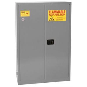 Eagle® 60 Gallon, 5 Shelves, 2 Doors, Sliding Self Close, Paint Safety Cabinet,Gray