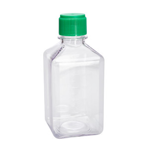 500mL PETG Square Media Bottles, Sterile, CELLTREAT, individually wrapped, case/24