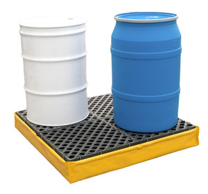 Flexible Yellow Spill Pallet P4 with Drain