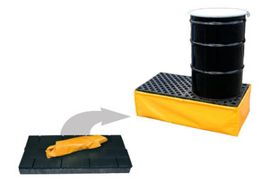 Flexible Yellow Spill Pallet P2 with Drain