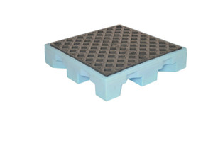 Single Drum Containment Spill Pallet, 11 gal sump, Fluorinated