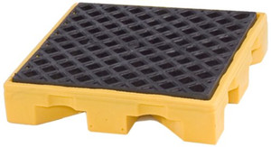 Single Drum Containment Spill Pallet, 11 gal sump