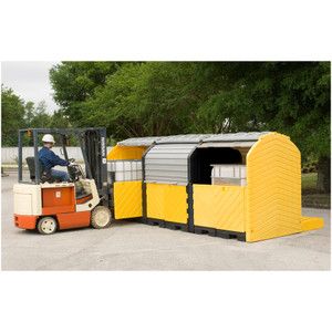 Modular IBC Spill Pallet: 3-Tank, Outdoor Model