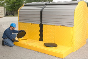 Modular IBC Spill Pallet: 2-Tank, Outdoor Model
