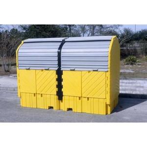 Twin IBC Hard Top Storage Shed, Choose Drain