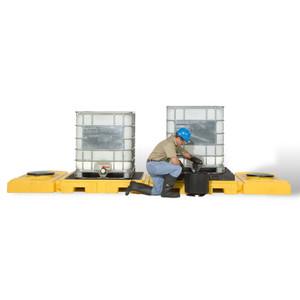 Modular IBC Spill Pallet: 2-Tank, Indoor Model