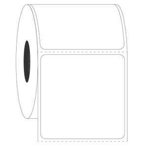 """Blackout FreezerTAG Deep-Freeze Cover-Up Labels for Thermal-Transfer Barcode Printers, White, 2"""" x 2"""", 500 labels/roll"""