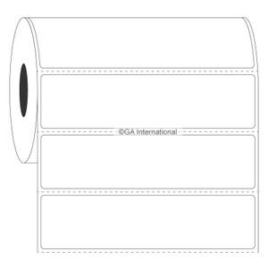 "Blackout Paper Labels, White, 4"" x 1"", 1000 labels/roll"
