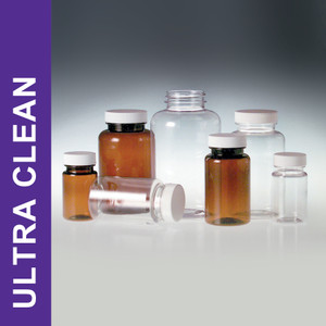 Product Family: Ultra Clean 4oz (120ml) Clear Heavyweight PET Packers, 38-400 White Polypropylene Foam Lined Cap