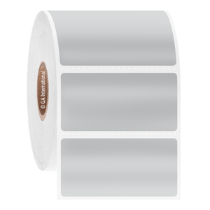 """Blackout Steri-ThermoTAG - Autoclave-Resistant Cover-Up Thermal-Transfer Labels, Silver, 2"""" x 1"""", 2000 labels/roll"""