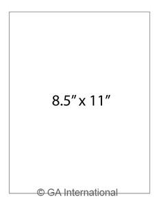"Permanent Steri-LazrTAG - Autoclave-Resistant Labels for Laser Printers (US Letter), White, 8.5"" x 11"", 16 labels/pack, 16 sheets/pack"