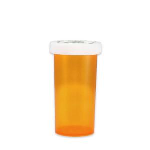 Amber Pharmacy Vials, Child Resistant Caps, 40 dram (150cc), case/180
